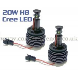 BMW 3 series E92 E93 20W Cree H8 Angel Eyes LED Upgrade Bulbs Markers