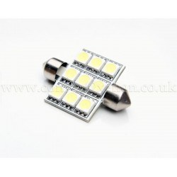 9xSMD 36mm Festoon High Power LED Bulb