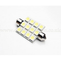 12xSMD 42mm Festoon High Power LED Bulb