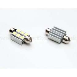 6xSMD 36mm Canbus Festoon High Power LED Bulb